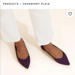 Rothy's Cranberry Plaid Points